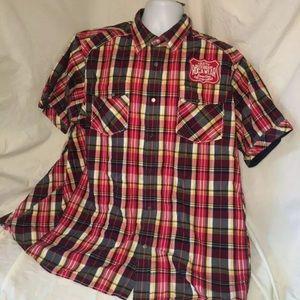 Rocawear men's snap button shirt 3xl plaid